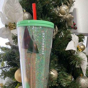 Glitter Christmas tree Starbucks tumbler 2020